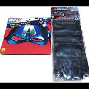 Captain America Eye Mask and Gloves